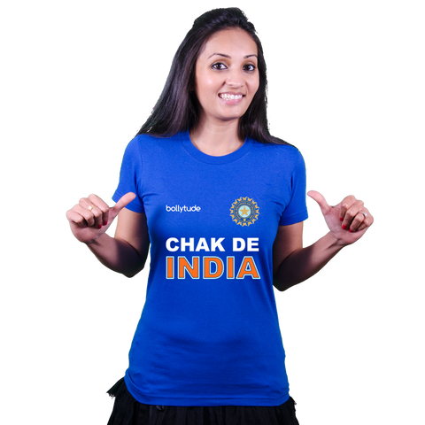 Chak De INDIA - [un] Official World cup Indian cricket T shirt