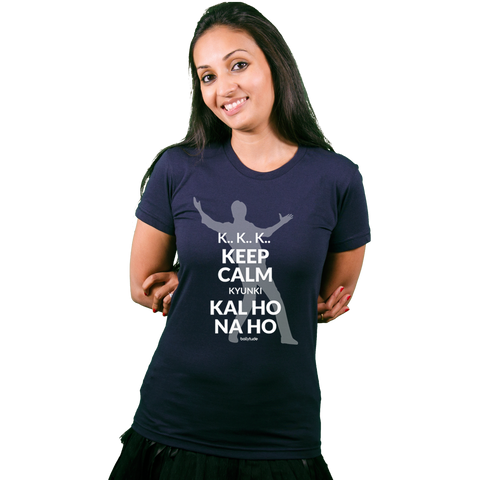 Keep calm SRK is here! - Bollywood T Shirt