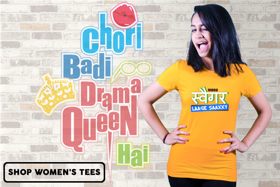 Bollywood tshirts for women, gals, girls | FIlmy