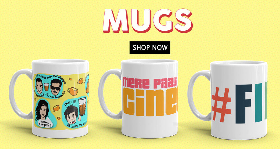 Bollywood Mugs for your everyday Chai & Coffee. Great Gifts for Bollywood fans and lovers