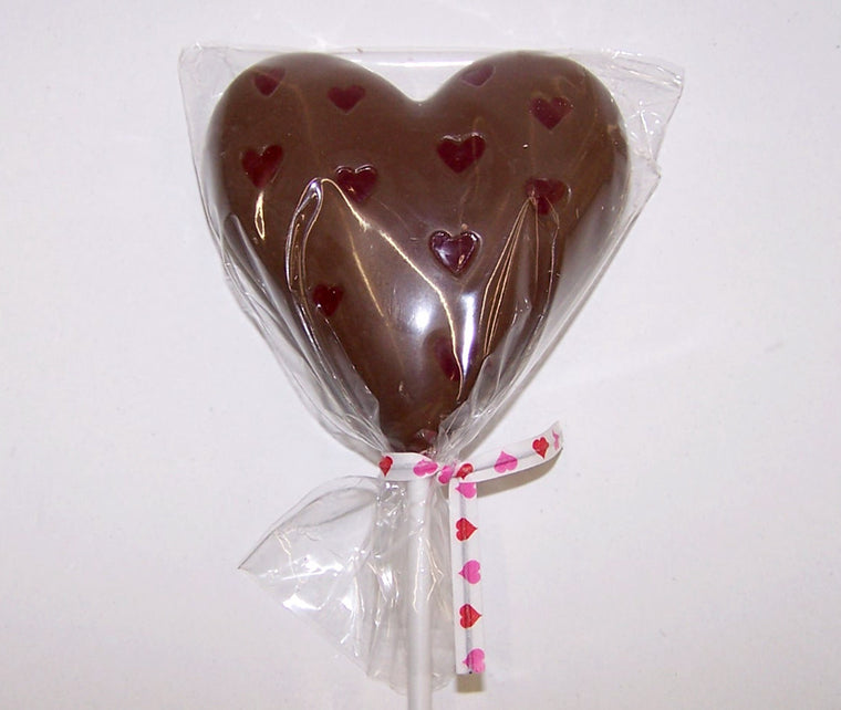 SOLID CHOCOLATE HEART ON A STICK