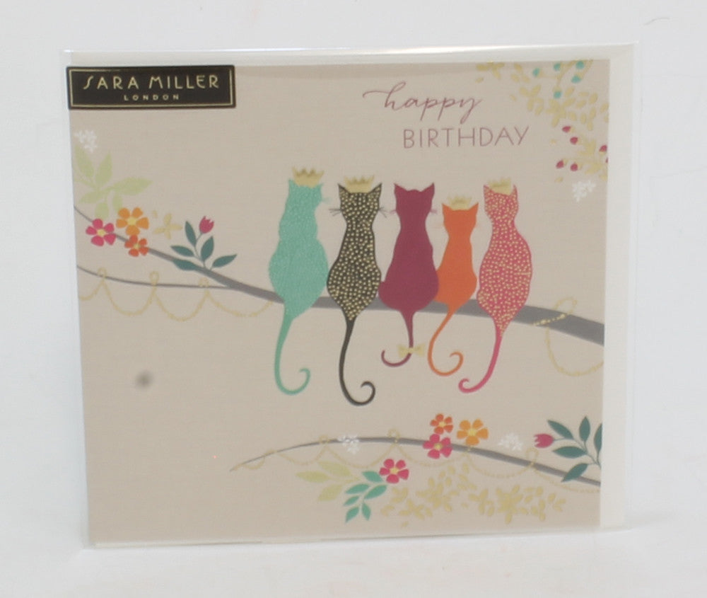 CATS AND CROWNS HAPPY BIRTHDAY GIFT CARD