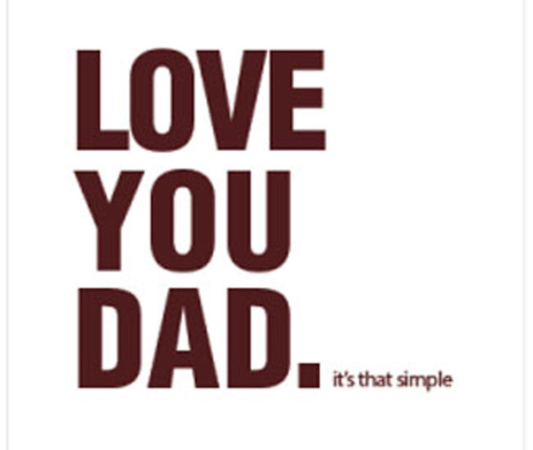 LOVE YOU DAD GIFT CARD