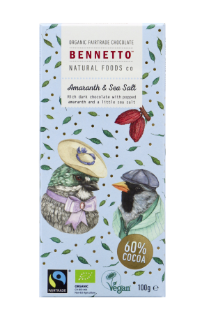 AMARANTH & SEA SALT 100G CHOCOLATE BAR