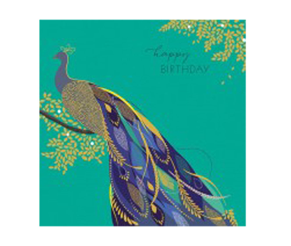 PEACOCK HAPPY BIRTHDAY GIFT CARD