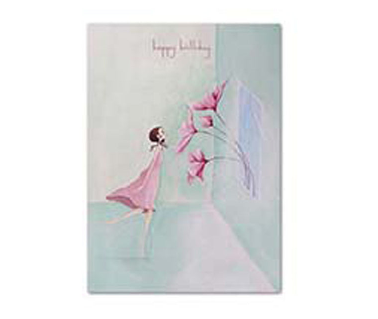PINK HAPPY BIRTHDAY GIFT CARD