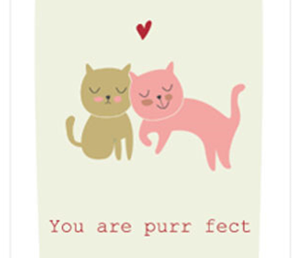 YOU ARE PURR FECT GREETING CARD