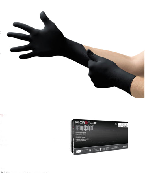 Black PF SMALL Nitrile Chemo Gloves 4.4mil 100pcs/box