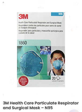 3M N95 Mask 1860 20pcs/box