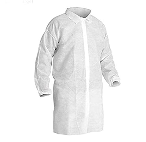 Disposable PP Lab Coat White 30pcs/box