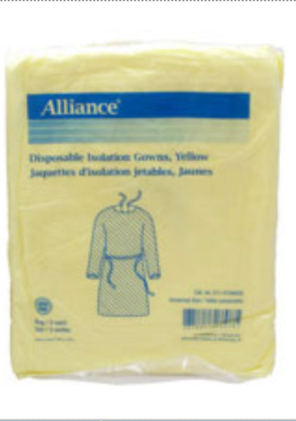 Disposable Isolation gowns - 50 pcs/box