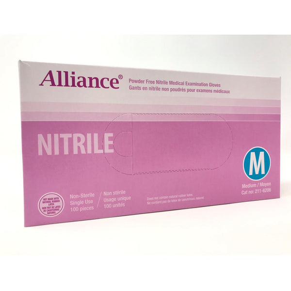 Alliance PF Nitrile Exam Gloves 100pcs/box