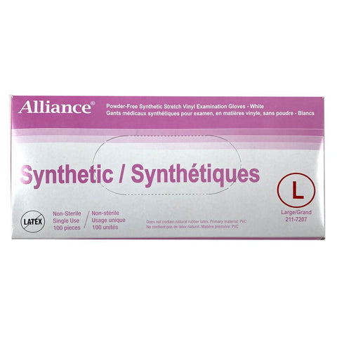 Alliance PF Synthetic stretch vinyl Gloves 100pcs/box