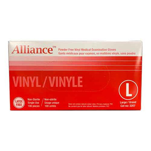 Alliance PF Vinyl Exam Gloves 100pcs/box