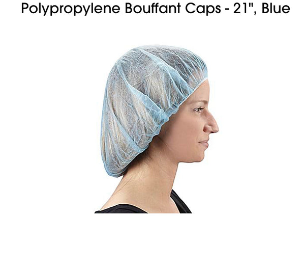 "Bouffant Cap  21"" & 24"" 100pcs/box"