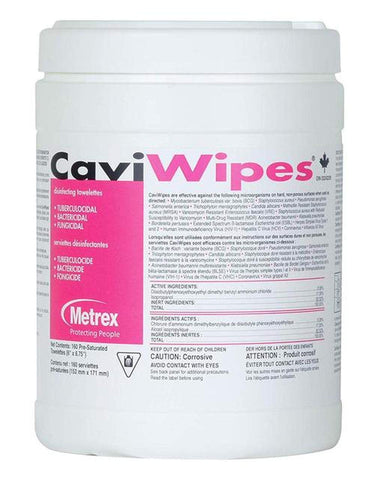 CaviWipes cleaner and Disinfectant 160 count. 12 cans/box