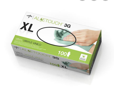 Aloetouch 3G PF Vinyl XL Exam Gloves 100pcs/box