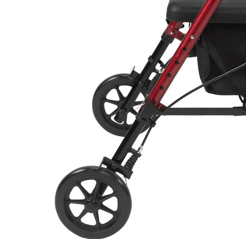 Rollator Walker With Brakes Standard - Red