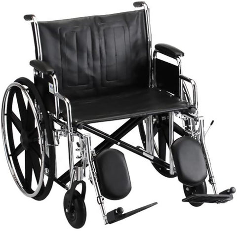 "Bariatric Deluxe Desk Arm 24""wide x 18""deep  Wheelchair With Elevating Leg Rest."