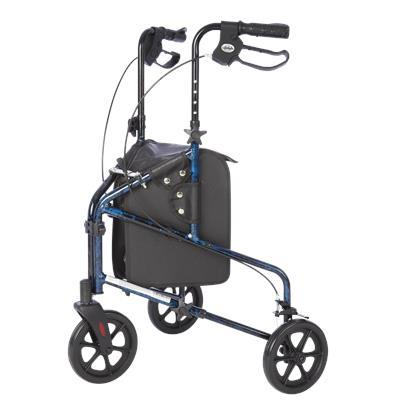 3 Wheel Walker with Tote Bag - Blue