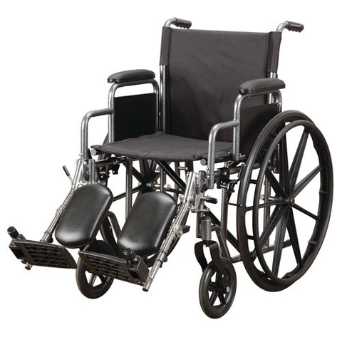 Economy Wheelchair with Desk Arms and Foot Rest