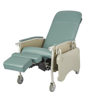 Deluxe Three Position Patient Chair - Rose
