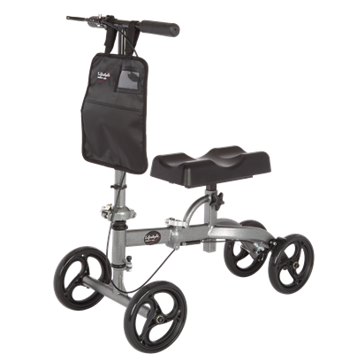 Knee Walker with Foldable Frame 300 lbs - Grey