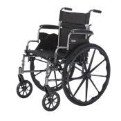 "Deluxe Lightweight Wheelchair Deluxe Lightweight Wheelchair with Flip Back Desk Arms 16""wide x 16""deep with Foot Rest"