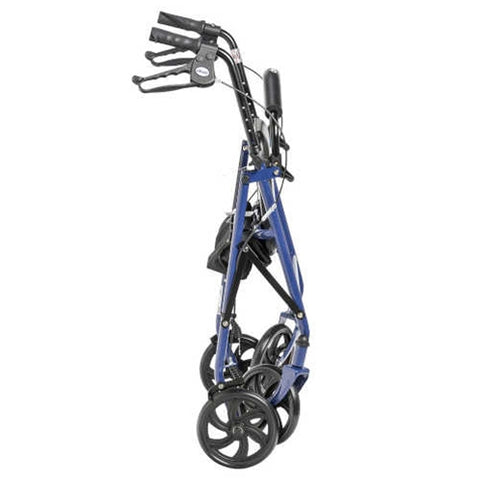 Bariatric Rollator Walker Blue - 400lb weight capacity