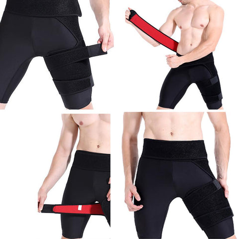 Adjustable Groin Support Men Women Compression Sport Thigh Waist Wrap Strap Hip Stability Brace Protector Leg Inguinal Belt