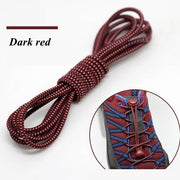 Elastic Shoelaces Round Locking No Tie Shoe Laces