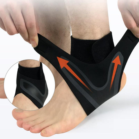 1Pcs Ankle Support Brace,Elasticity Free Adjustment Protection Foot Bandage,Sprain Prevention Sport Fitness Guard Band Hot 8