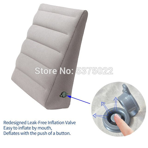 Inflatable Wedge Pillow  for Acid Reflux leg rest and Sleeping