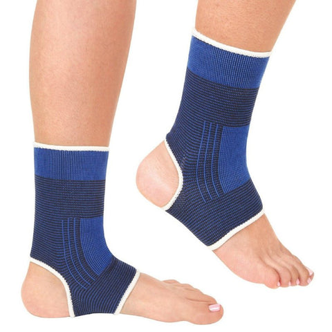 1 Pair Ankle Foot Support Sleeve Pullover Wrap Elastic Sock Compression Wrap Sleeve Bandage Brace Support Protection Pain Relief