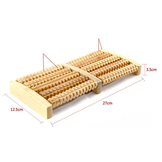 Raw Wooden Foot Roller
