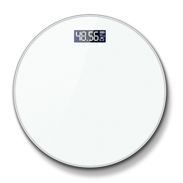 Round Body Index Electronic Smart Weighing Scales Bathroom Body Scale Digital Human Weight White Mi Scales Floor Lcd Display