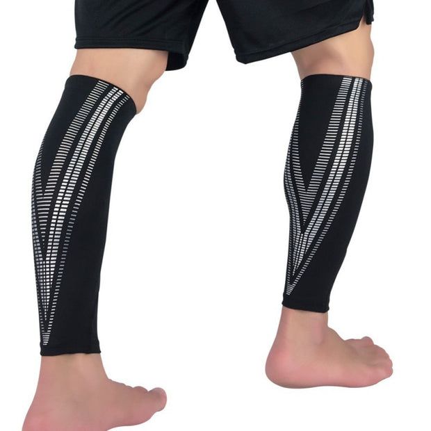 1Pcs Legwarmers Football Basketball Sport Bicycle Calf Leg Brace Support Stretch Sleeve Compression Exercise Leggings
