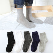 1Pair Mens Non Elastic 100% Pure Cotton Socks Comfort Soft Grip Diabetic Socks Summer Autumn Excellent Quality Breathable Male