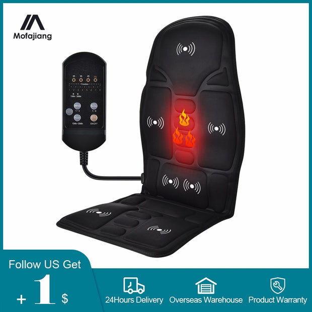 Electric Heating Full Body Massage Car Chair