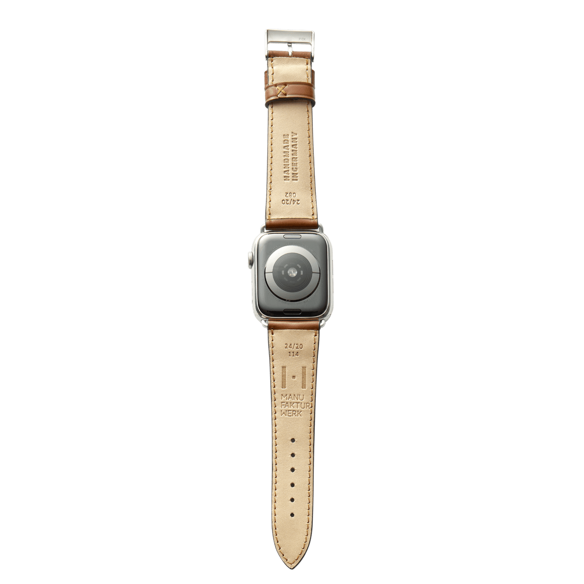 Lederarmband für Apple Watch <br><p>Winterhude cognac (Shell Cordovan)</p> - MANUFAKTURWERK