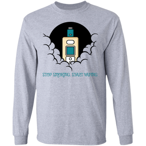 Stop Smoking. Start Vaping. LS Ultra Cotton T-Shirt