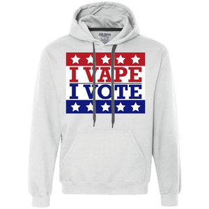 I Vape I Vote Heavyweight Pullover Fleece Sweatshirt