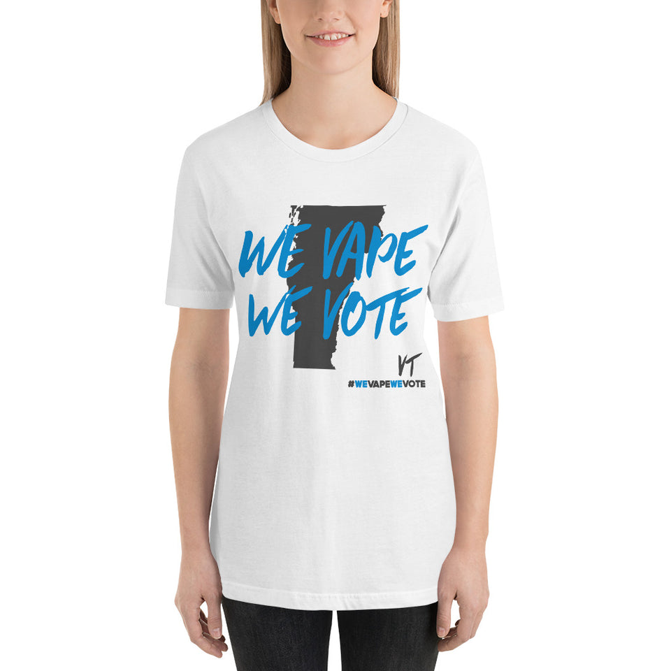 We Vape We Vote Vermont Short-Sleeve Unisex T-Shirt
