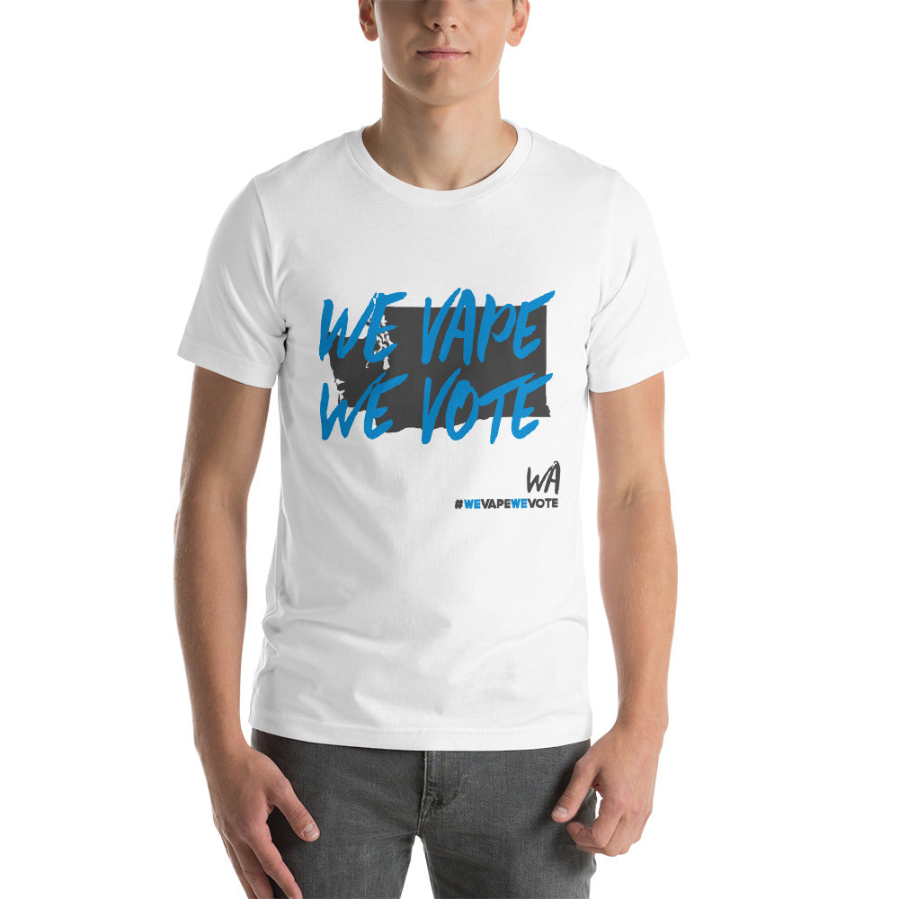 We Vape We Vote Washington State Short-Sleeve Unisex T-Shirt