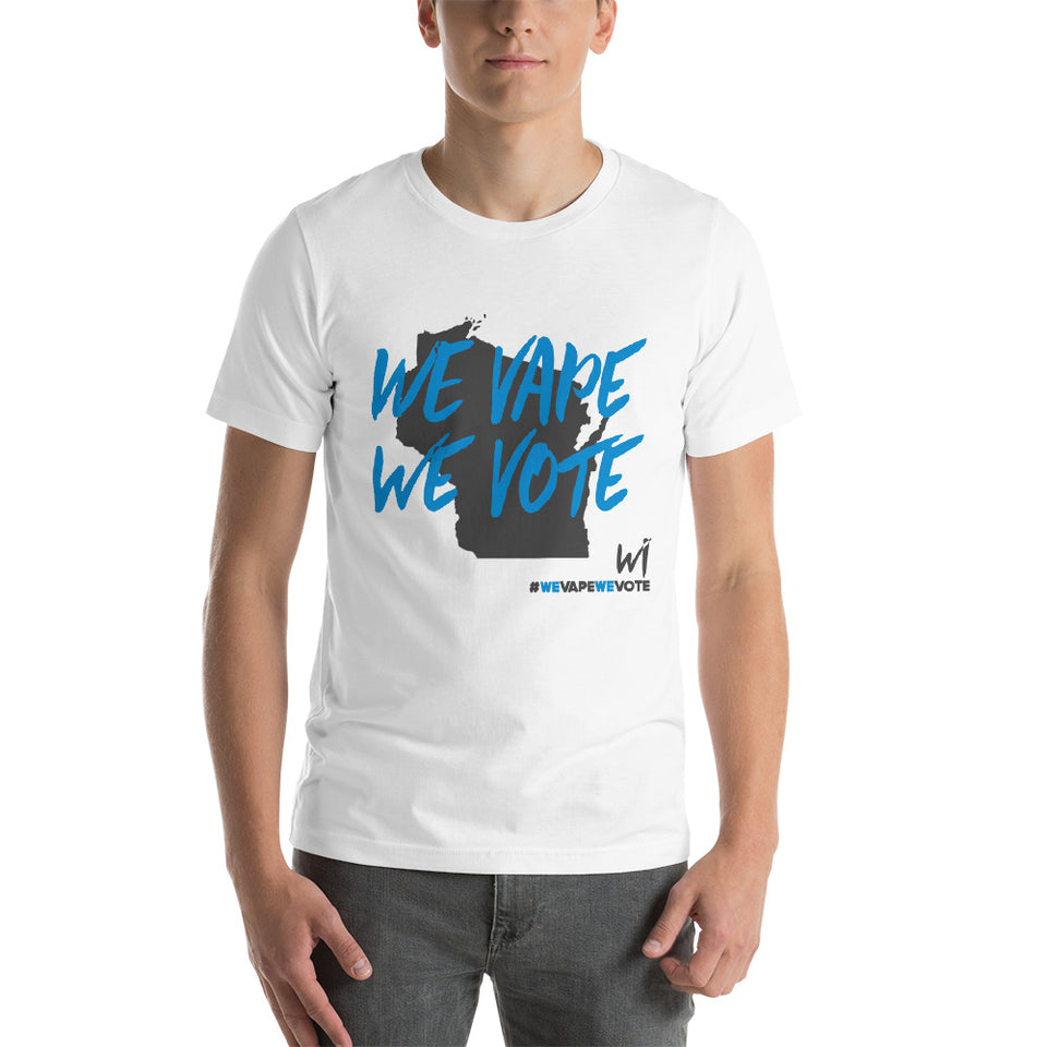 We Vote We Vape Wisconsin Short-Sleeve Unisex T-Shirt