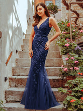 Load image into Gallery viewer, Rosa Dress in Navy Sleeveless Mermaid Gown E7886HK-Navy  SAMPLE IN STORE