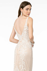 Athena Wedding Dress Beaded Design Flared Tulle Bottom Bridal Gown G2985-THR  SAMPLE IN STORE