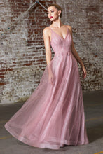 Load image into Gallery viewer, Audrey Mothers Dress Informal Beaded Bodice Flowing Skirt C910-Rose  SAMPLE IN STORE