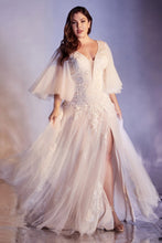 Load image into Gallery viewer, Beatrice Wedding Dress with Butterfly Sleeves and Tulle Skirt C070TNR Sample in Store