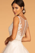 Load image into Gallery viewer, Bonnie Wedding Dress Scoop Neckline with Multi-Layer Skirt G2599HKR-Ivory/champagne